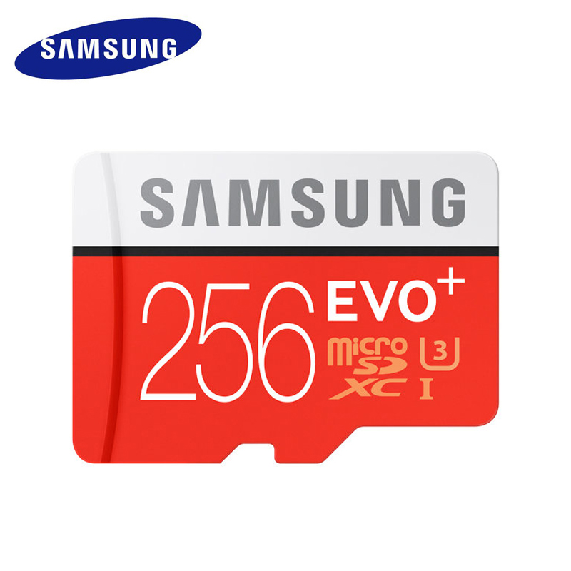 SAMSUNG Micro SD Memory Card 256GB Class10 EVO Plus TF Card C10 SDXC Trans Flash Memoria For Huawei P10 & LG G5 Mobile Phone цены онлайн