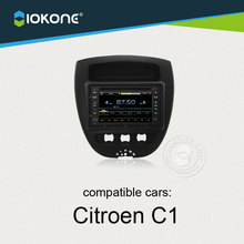 Free Ship IOKONE Car DVD Player for Citroen C1 Toyota AYGO With Bluetooth  Touch Screen Free Map Card