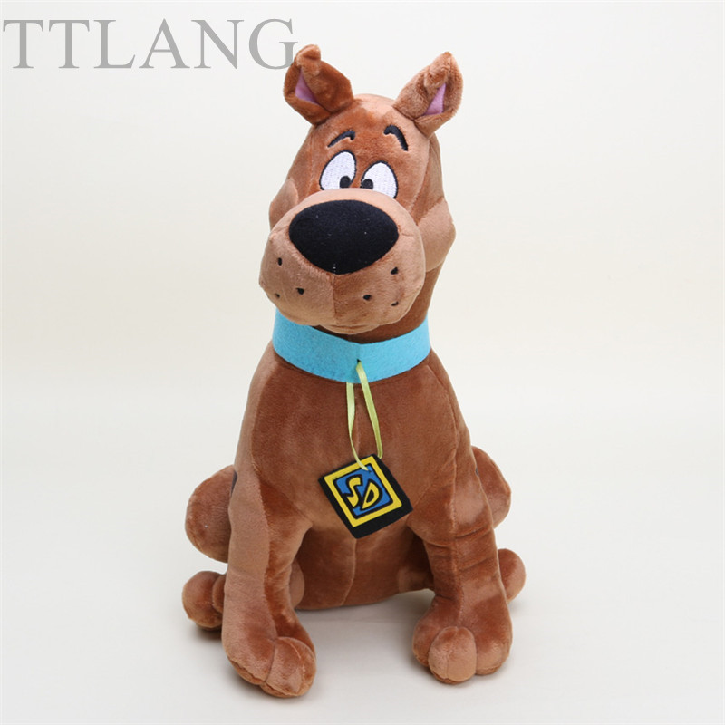 13'' 35cm Cute Scooby Doo Dog Plush Toy Animal Soft Stuffed Dolls For Kids Gift image