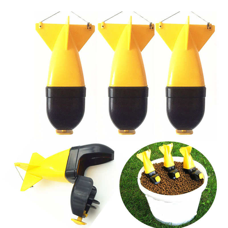 Toppory 1PCS Carp Fishing Bait Rockets Bait Thrower Floating Boilies Feeder Box Gear Pellet Holder Carp Fishing Tackle Tools