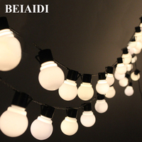BEIAIDI 10M 38 Leds Novelty Globe String Light Christmas Wedding Fairy Lights For Indoor Outdoor Decoration