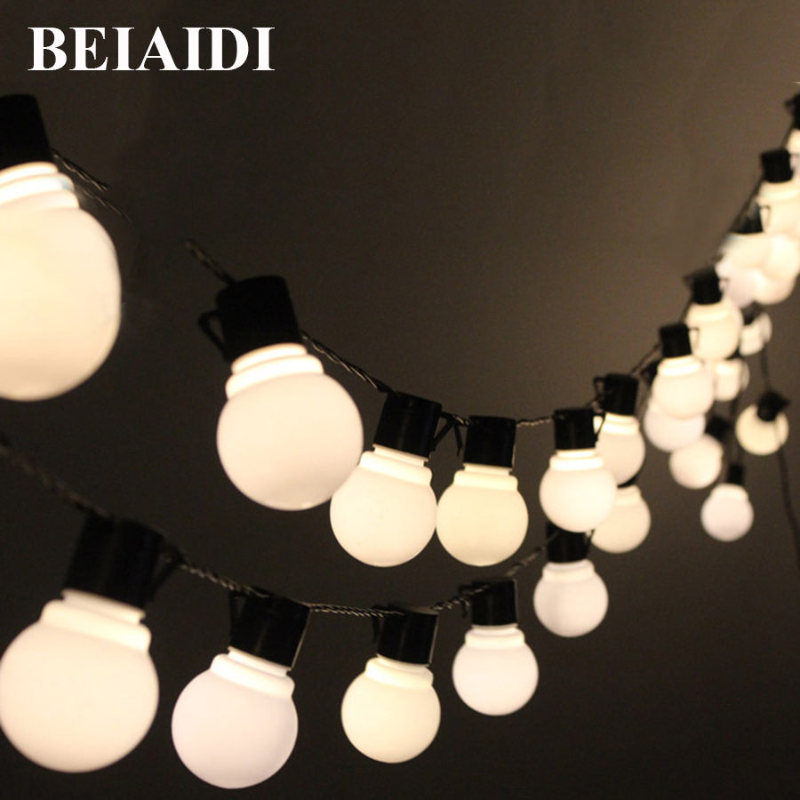 BEIAIDI 10M 38 Leds Novelty Globe string light Christmas Wedding fairy lights for Indoor&outdoor decoration garden party pendant