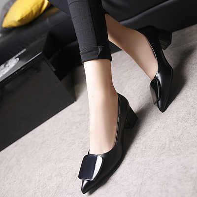 Nieuwe Koreaanse mode veelzijdige wees ondiepe mond antislip hoge hakken trend sexy comfortabele hoge hakken