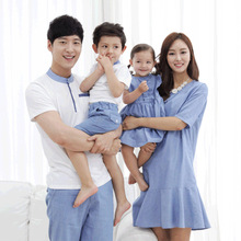 Summer Family Matching Outfits Mother Da