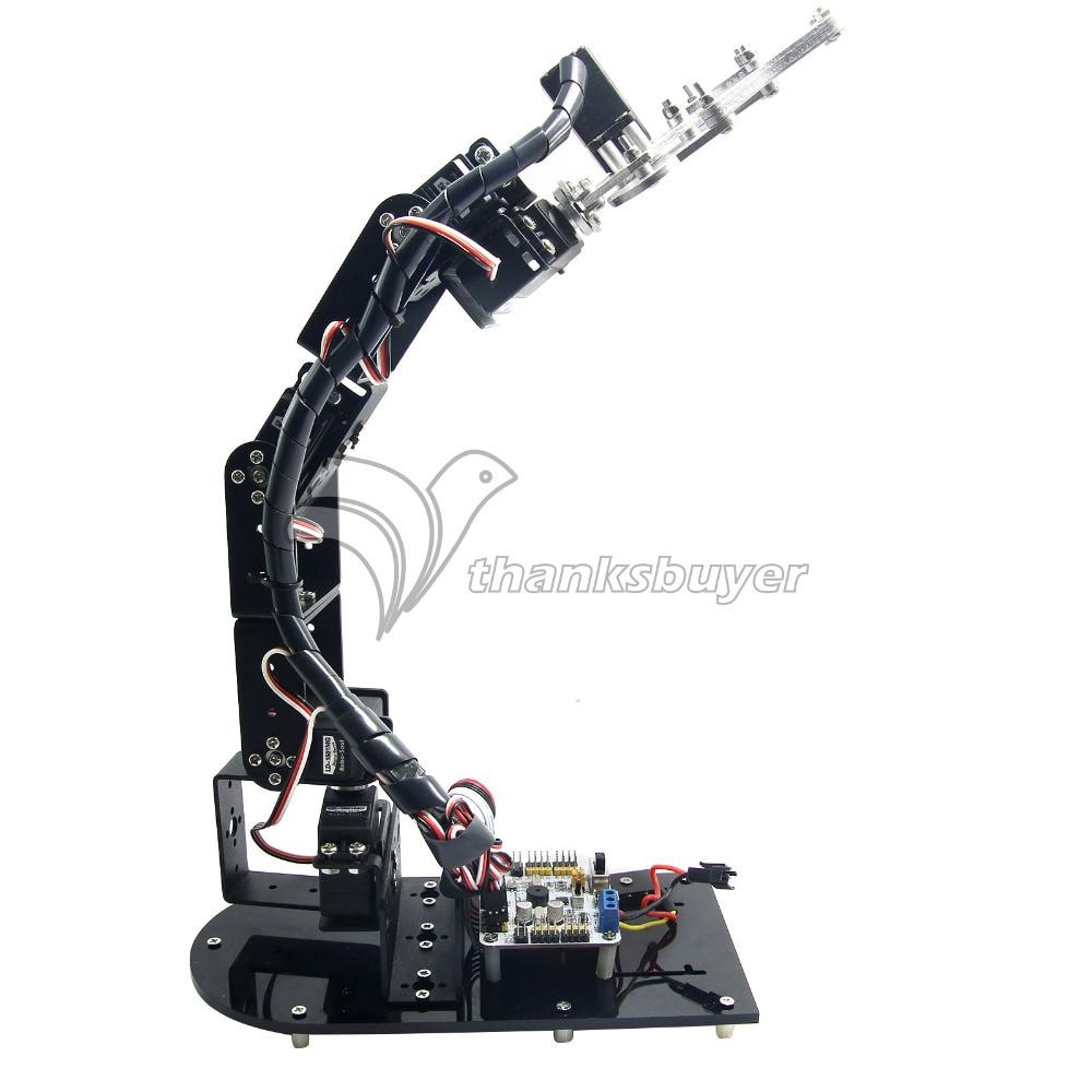 6 DOF Mechanical Robot Arm 3D Rotating Mechanical Arm Robit Kit & 32 CH Controller & MG996R Servos 6 dof robot arm six axis manipulators industrial robot model robot without controller mg996r