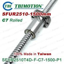 TBI 10 мм привести швп 2510 C7 1500 мм с SFU2510 гайкой для высокая стабильность ЧПУ diy kit