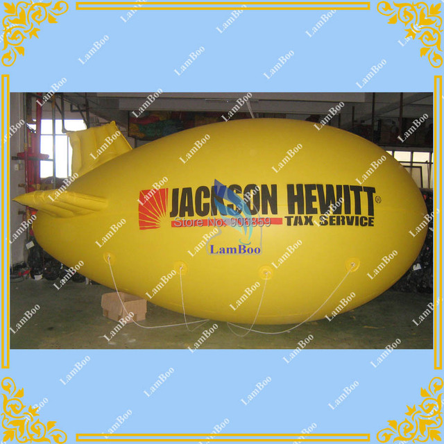 HOT Sell 4M/13ft Long Inflatable Zeppelin/Inflatable Airship/Inflatable Advertising Blimp for Events/Fast DHL FREE SHIPPING