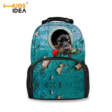 Funny Pet Dog Printing Backpack Women Backpacks for Teenage Girls, Fashion Female Travel Large Bags Bagpack Girl Mochila Escolar