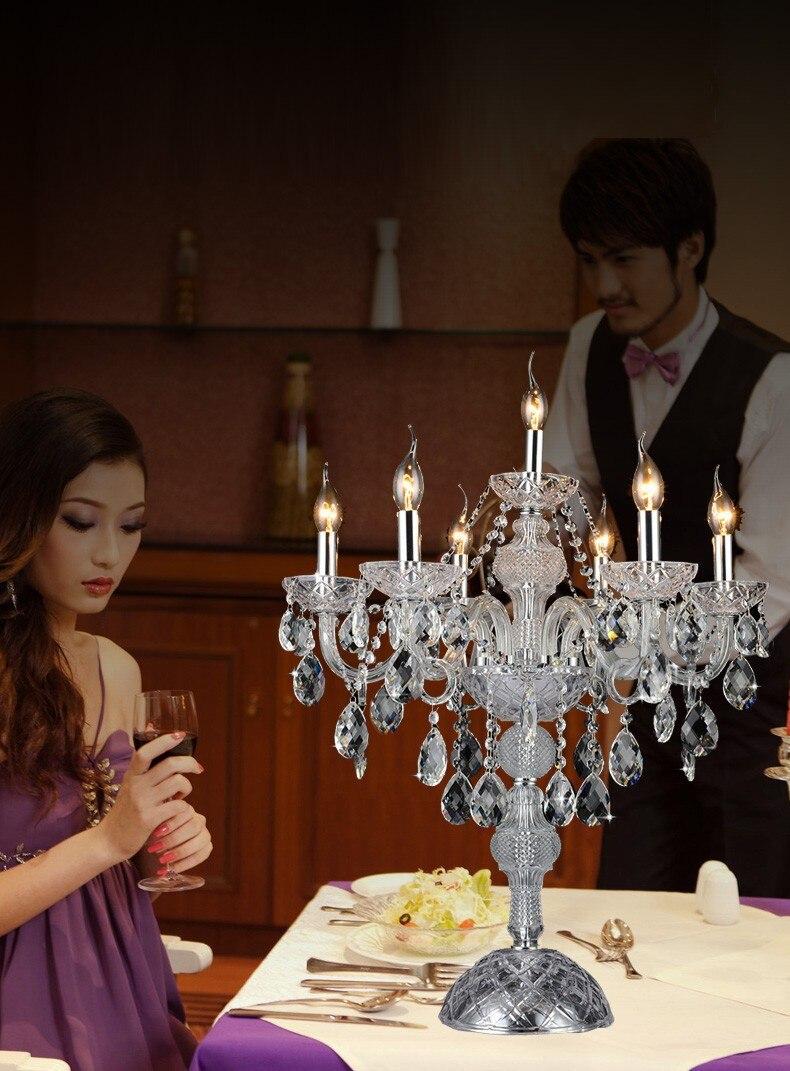 Doprava zdarma Špičkový křišťálový svícen v evropském stylu, svatební dekorace, role domácnosti upřednostňují