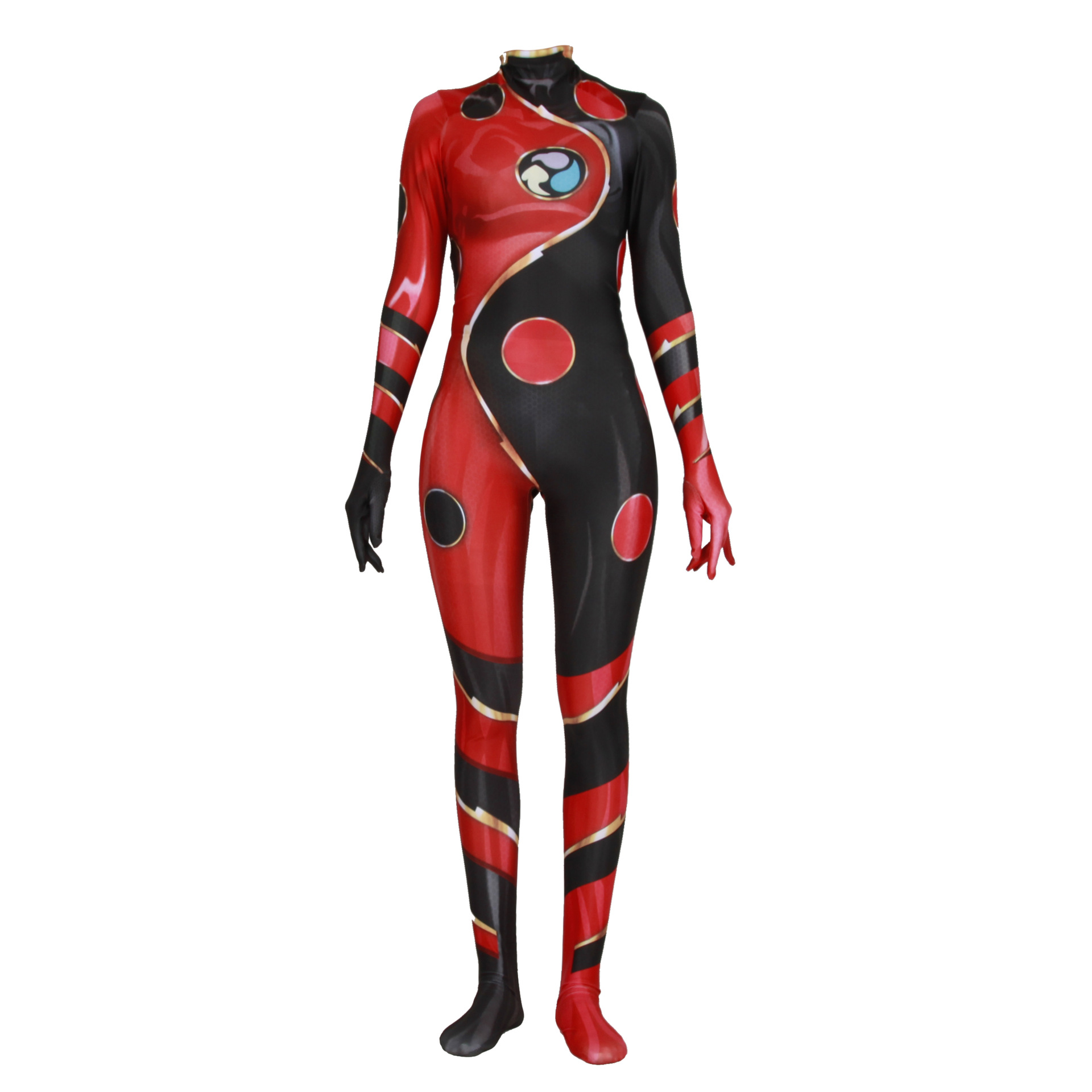 Ladybug Girl Costume /& Woman Cosplay Marinette Cartoon tight fitting clothes