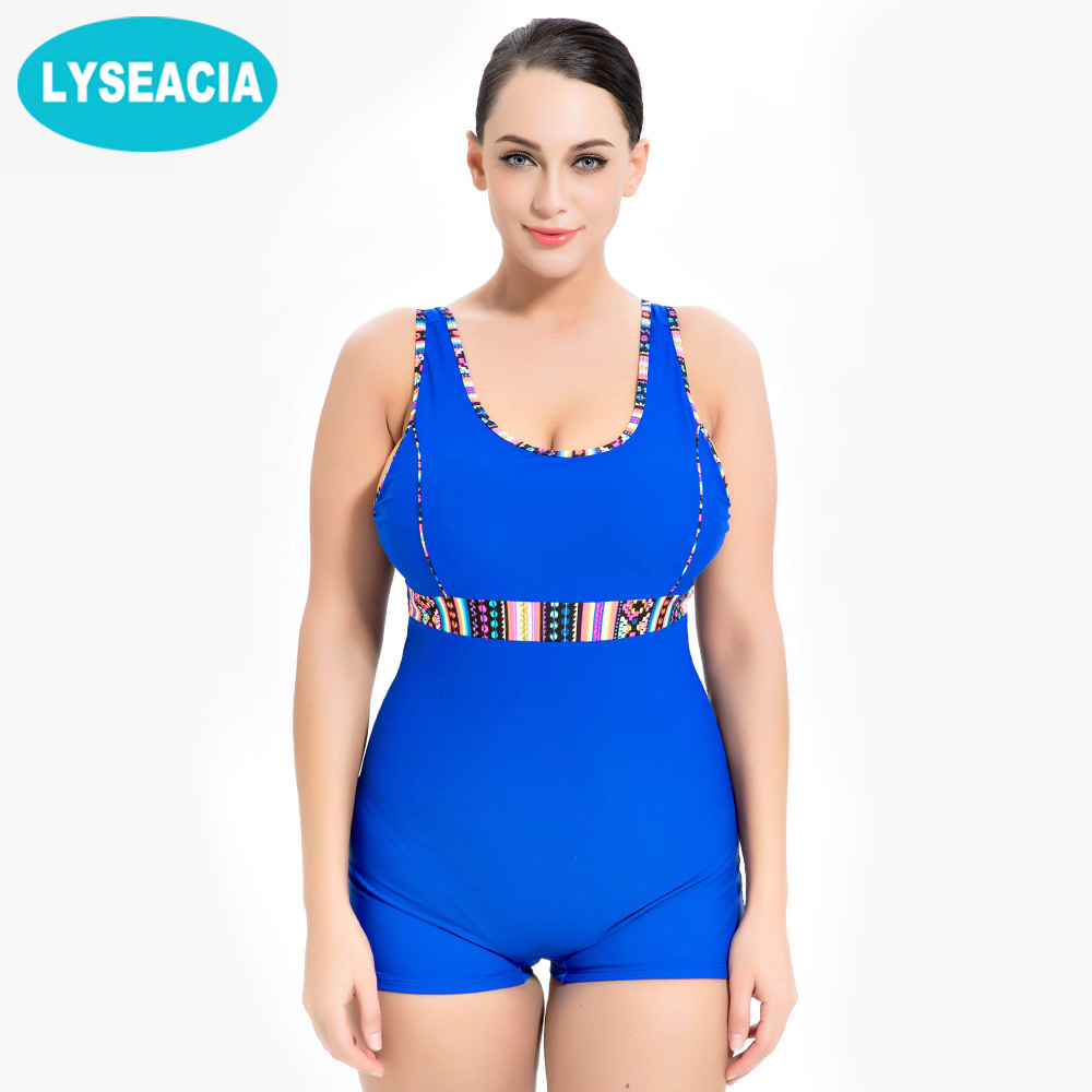 LYSEACIA Sports One Piece Swimwear Women Swimsuits of Large Sizes Swimsuit Fused Bathing Suit Bodysuit Big Women's Swimming Suit tequila por favor letter custom swimsuit one piece swimwear bathing suit women sexy bodysuit funny swimsuits jumpsuits rompers