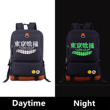 2017 Harajuku Japanese Anime Tokyo Ghoul Cosplay Luminous Printing Cosplay Men Women Backpack Laptop Fashion School Bags
