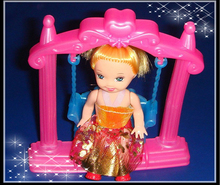 Mini Doll Accessories Swing for Kelly doll 1/12 for Barbie Doll House Classic Toys Gift For Girl Christmas Gift