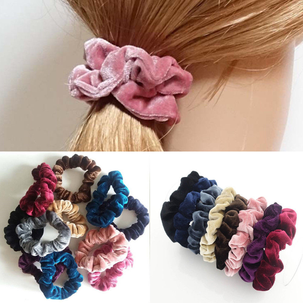 Candy Satin Hair Tie Band Rope Headwear Ponytail Holder Scrunchie Girls Hot