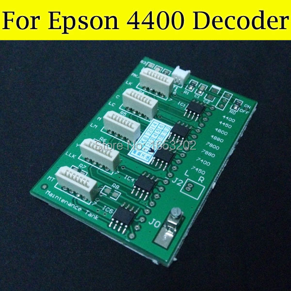 HOT SELLING!! for epson 4400 decoder card Easy to install Chip decoder card for Epson Stylus PRO 4400 Wide format printer 2 pc set chip decoder card for epson stylus pro 7400 9400 wide format printer 9400 t5678 t5674 ink cartridge