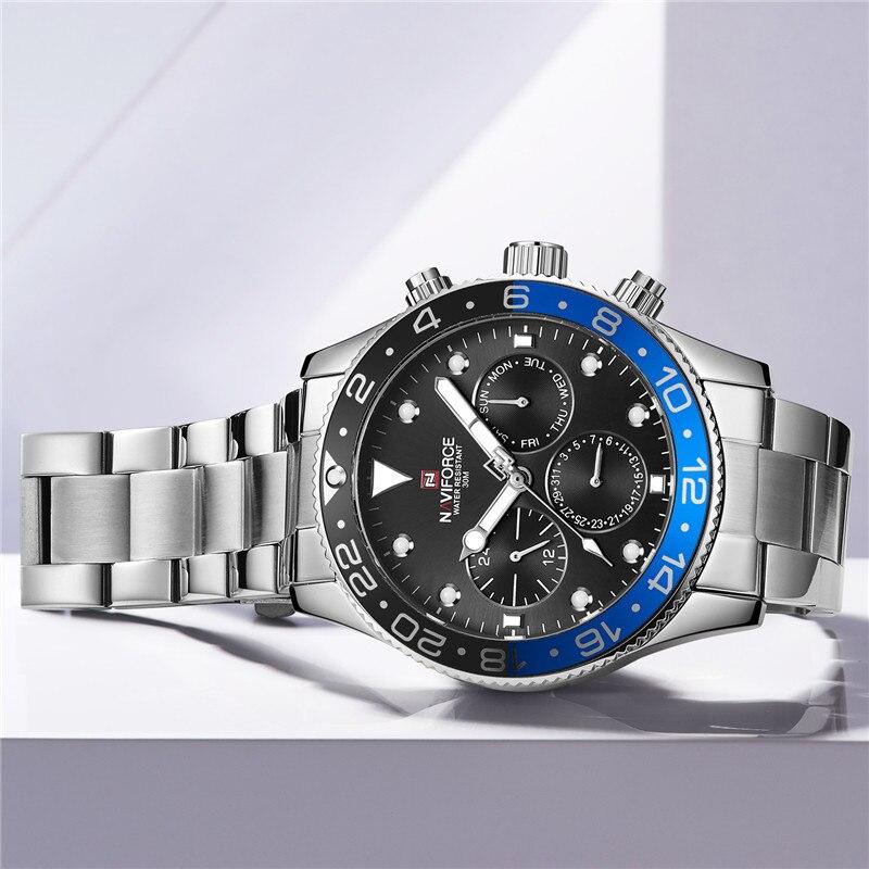 Relogio Masculino NAVIFORCE hommes montre Top marque de luxe Sport étanche militaire montre bracelet en cuir Quartz mâle horloge 9147-in Montres à quartz from Montres    3