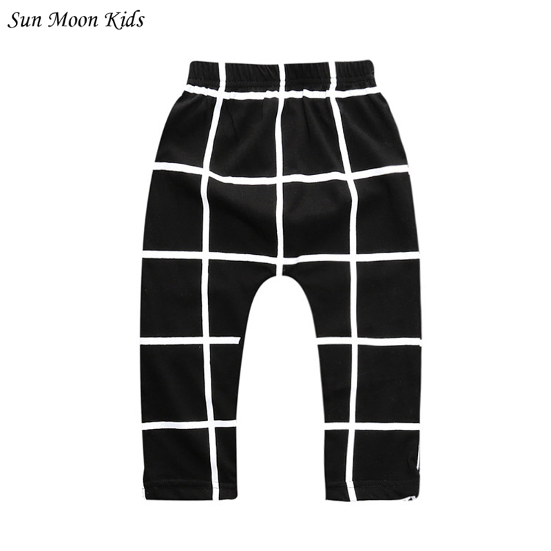 Sun Moon Kids 2016 Newborn Baby Pants 0-2 Years Cotton Baby Boy Pants Casual Infant Baby Boys Clothes Children Girls Harem Pant