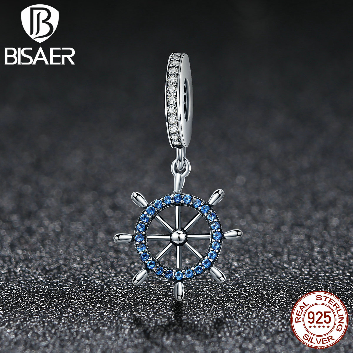 925 Sterling Silver Travelling Pendant, Sky Wheel Beads & Charms Fit Pan Bracelet Authentic Original Jewelry Gift ECC413