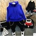 2016 Зима новый мальчик просто досуг спорт костюм отдыха свитер хлопка комфортно раздел бесплатная доставка