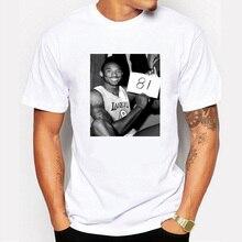 2017New Fashion men's Tee Shirts Kobe Bryant  81 points record Printed Sleeve T-shirt