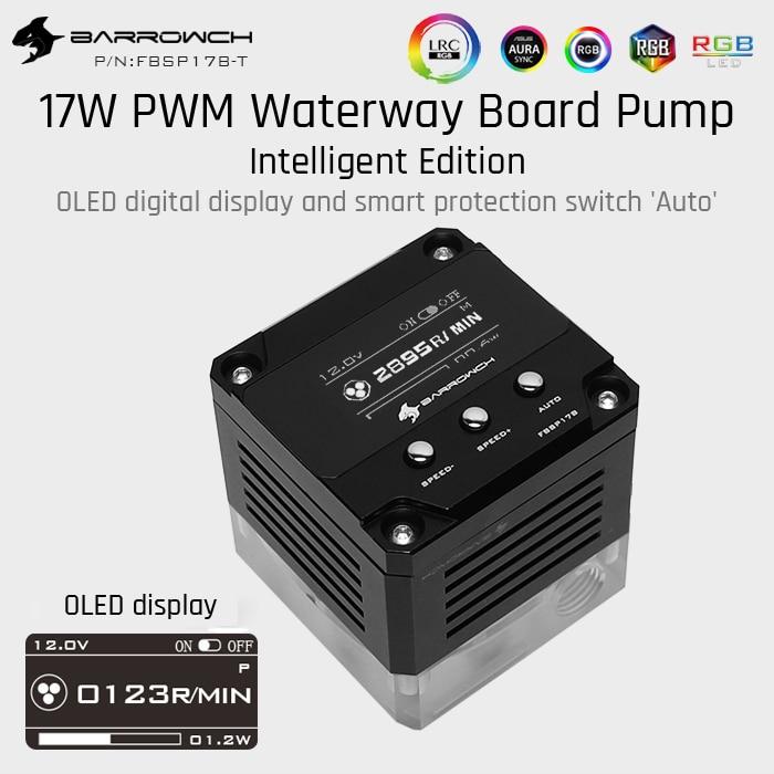 Barrowch FBSP17B-T, 17W PWM Intelligent Waterway Board Pump, OLED Digital Display, Only For Barrow Waterway Boards,