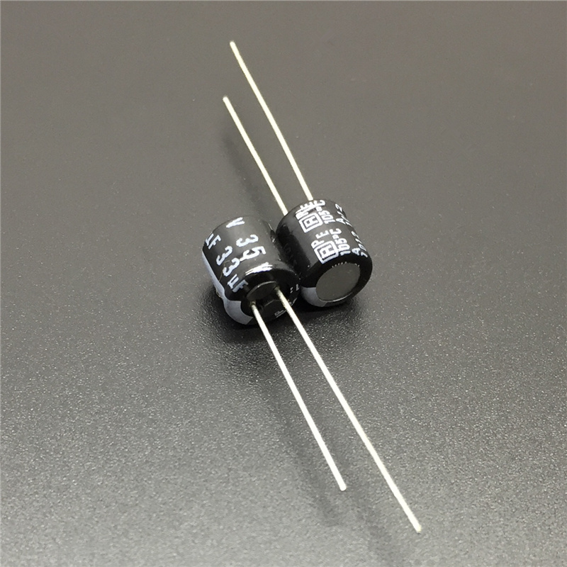 10pcs 33uF 35V RUBYCON MH7 Series 6.3x7mm 35V33uF Aluminum Electrolytic Capacitor