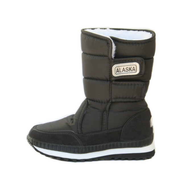 Непромокаемые детские зимние сапоги зимние кожаные детские сапоги для детей зимние ботинки-30 градусов Нескользящие сапоги для девочек дет...