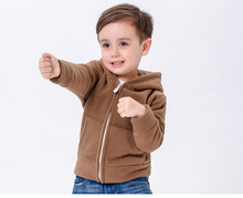 2-6Y Spring Boys And Girls Cardigan Coat Jacket Kid Pure Color Outfit Kids Clothings Children Fleece Outwear Jacket KW-1635