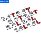 1PC DIY Chrome ABS Alphabet letter 3D Number Decals Symbol Emblem Badge Sticker For Nissan VW Ford Toyota Honda Subaru Mazda