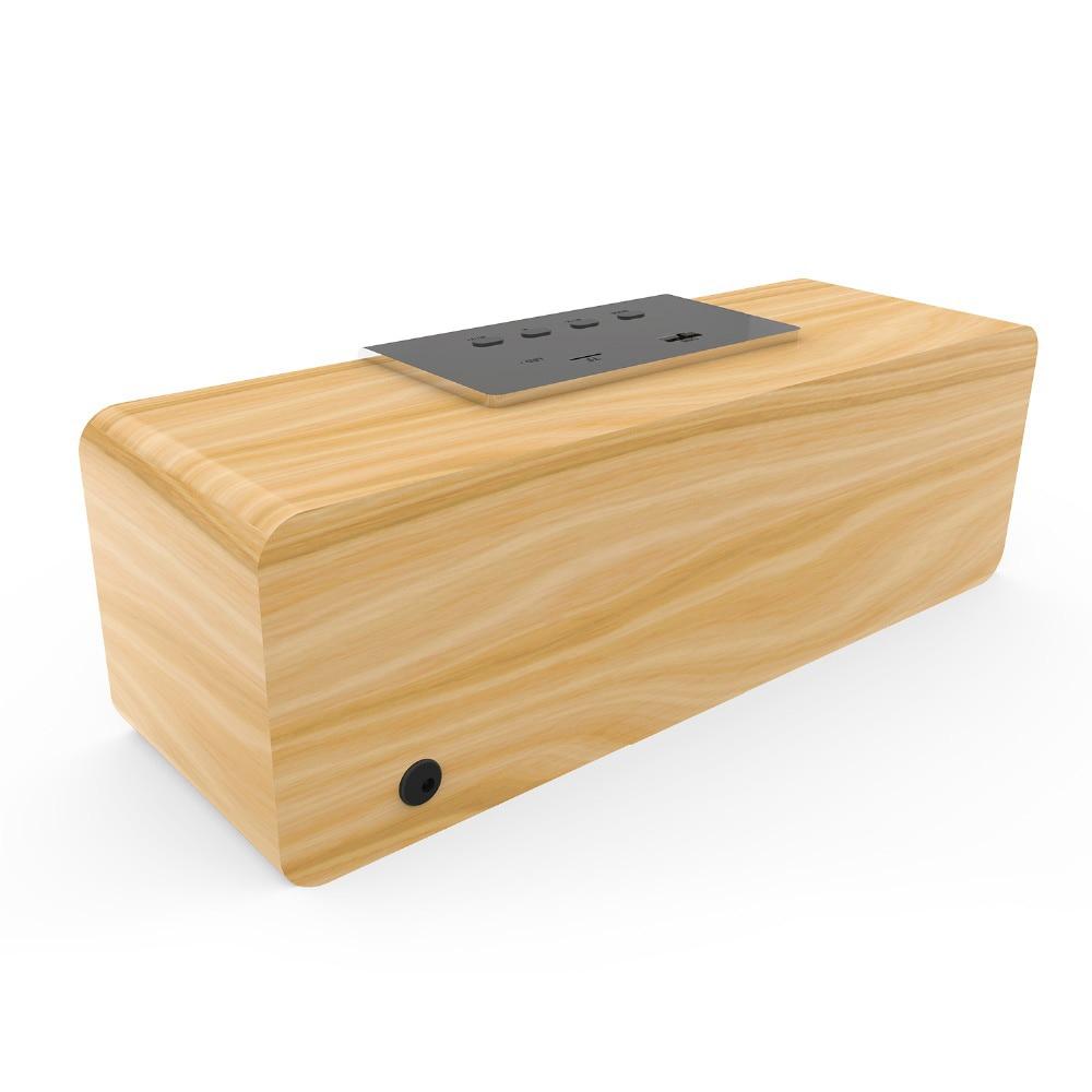 Image 3 - Smalody wireless bluetooth speaker Wooden TV Soundbar Stereo bass loudspeaker desktop PC computer boombox USB FM Radio sound box-in Bookshelf Speakers from Consumer Electronics