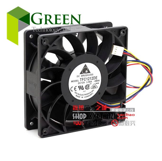 цены на The Original Delta 12cm 120MM PWM FAN 252CMF 12V 3.9A TFC1212DE Server case Big power Cooling fan with 4p