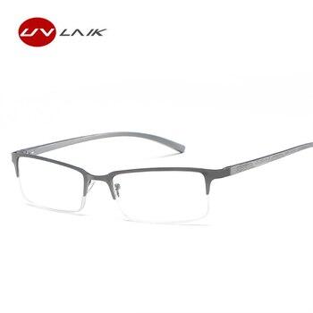 9a5b3e1c47 UVLAIK hombres gafas de lectura Marco de aleación de presbicia anteojos  recetados + 1,0 + 1,5 + 2,0 + 2,5 + 3,0 + 3,5 + 4,0