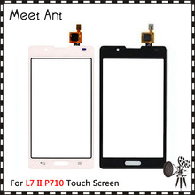 "High Quality 4.3"" For LG Optimus L7 II P710 and L7 II 2 Dual P715 P716 Touch Screen Digitizer Sensor Outer Glass Lens Panel(China)"