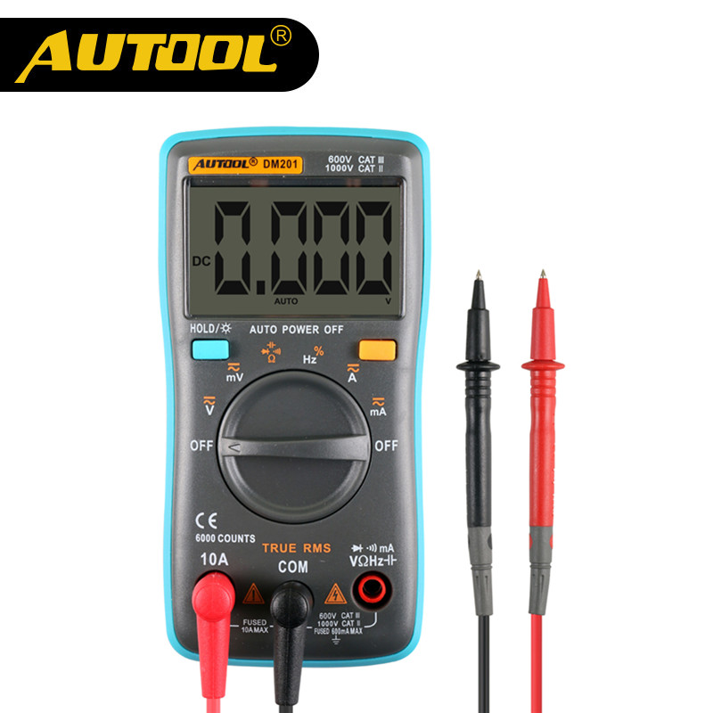 AUTOOL DM201 Multimeter Car Circuit Tester Automoti