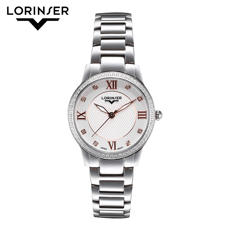 Lorinser Luxury Watches Ladies Quartz Watch Stainless Steel Casual Women Dress Waterproof Roman Numeral Wristwatch Drop ShippingLorinser Luxury Watches Ladies Quartz Watch Stainless Steel Casual Women Dress Waterproof Roman Numeral Wristwatch Drop Shipping