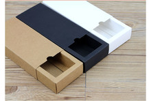 Cardboard box kraft Paper Drawer box Wedding White Gift Packing Paper Box For Jewelry/Tea/handsoap/Candy(China)