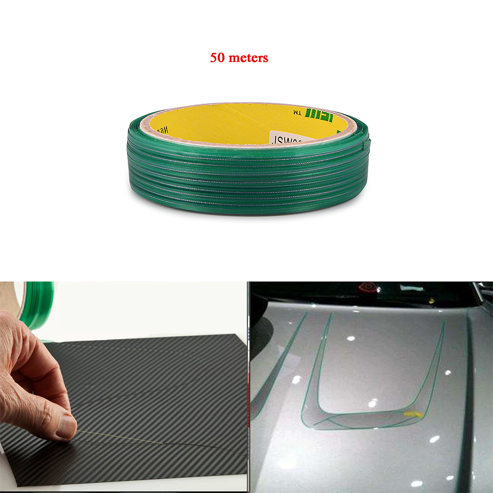 EHDIS 50M Vinyl Wrap Car Stickers Knifeless Tape Design Line Car Film Wrapping Cutting Tape Knife Car Styling Tool Accessories(China)