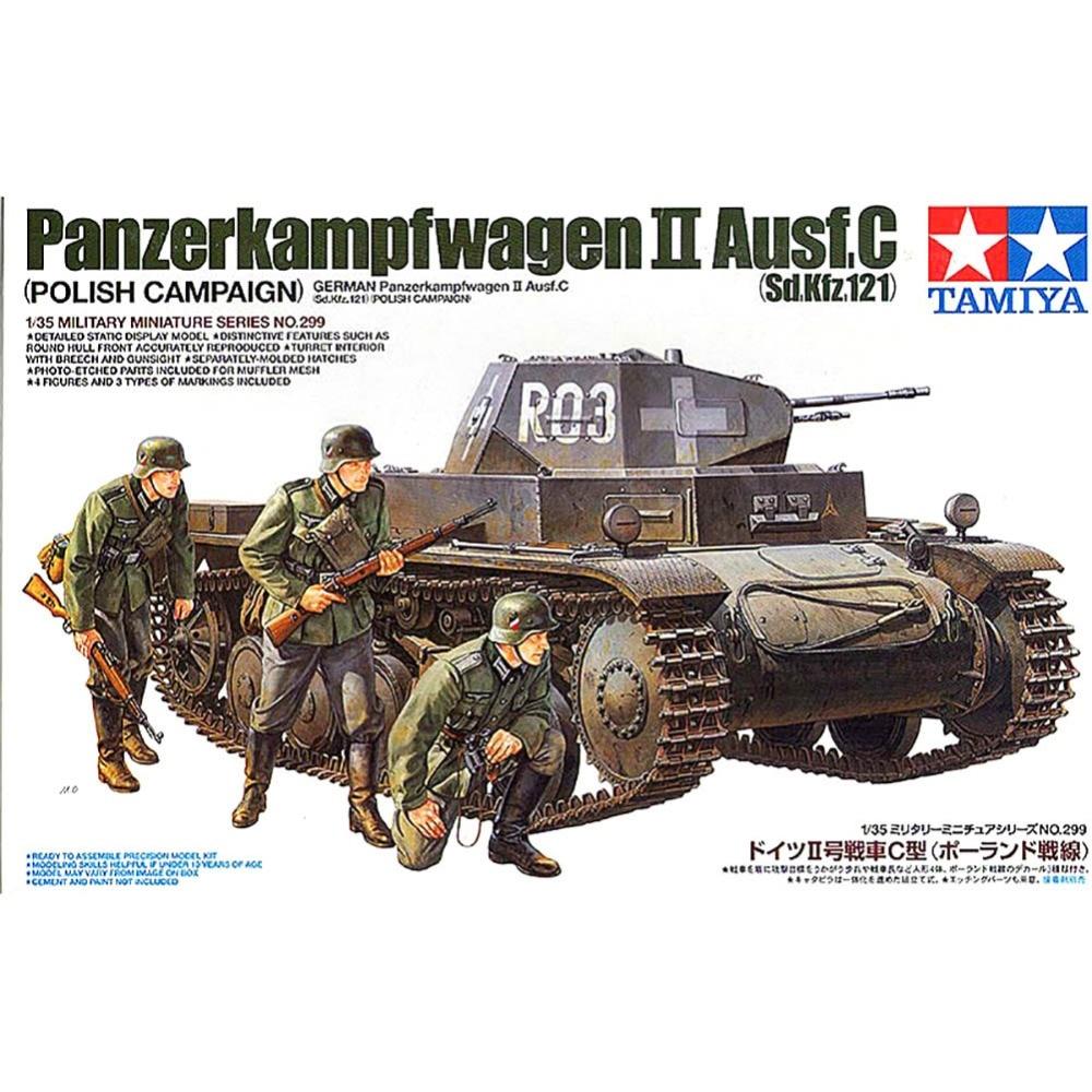 OHS Tamiya 35299 1/35 Panzerkampfwagen II Ausf C Polish Campaign Sd Kfz 121 Military Assembly AFV Model Building Kits oh колесные диски kfz 9610 6 0x16 5x112 d57 1 et53