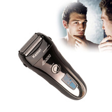 Washable Kemei Speed Maglev 4-blade Cutting System Rechargeable LCD Display Electric Shaver Razors Shaving Men Face Care P00