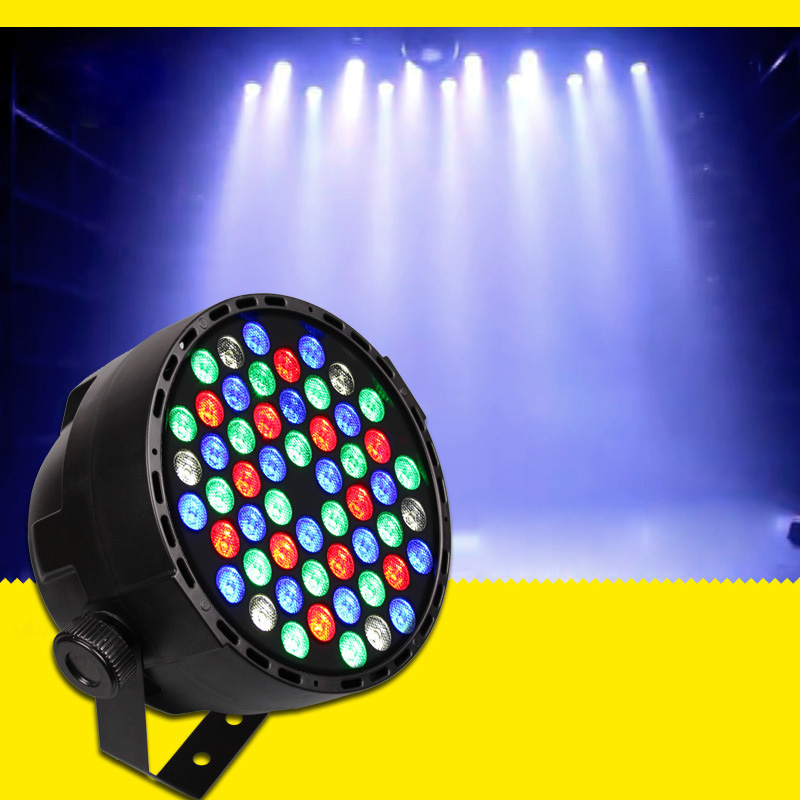 где купить DMX Led Par 54W RGBW LED Stage Par Light Wash Dimming Strobe Lighting Effect Lights for Disco DJ Party Show по лучшей цене