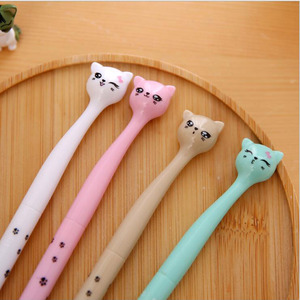 Image 3 - 60pcs/lot Cute cartoon cat gel pen kawaii stationery pens 0.5mm black ink office school supplies papelaria G001