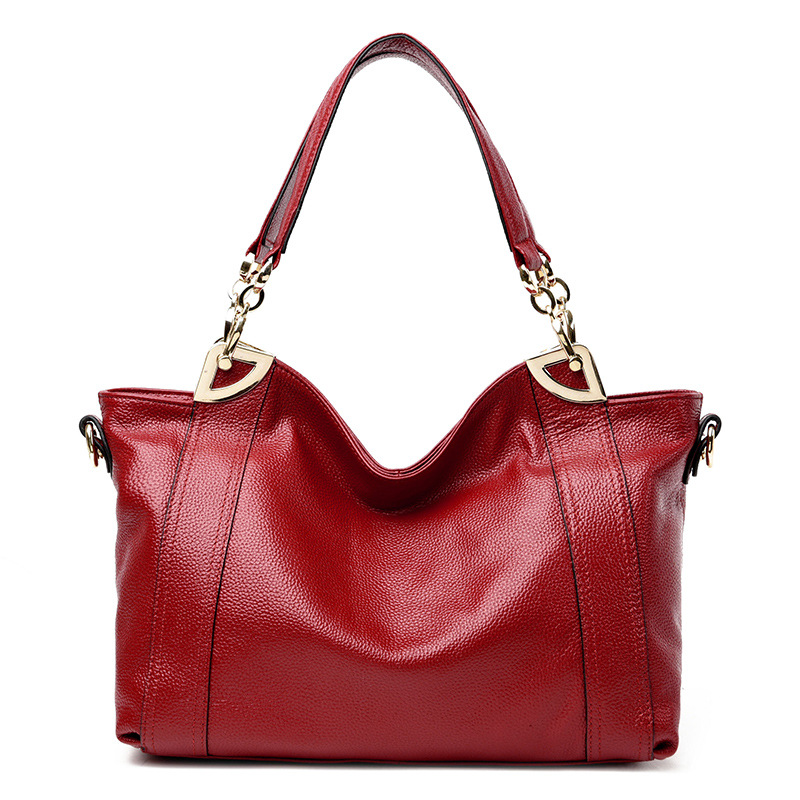 European and American Style 100% Women's Genuine Leather Handbags Luxury Shoulder Bags Fashion Messenger Bag Big Size Women Bags женская рубашка european and american big 1715