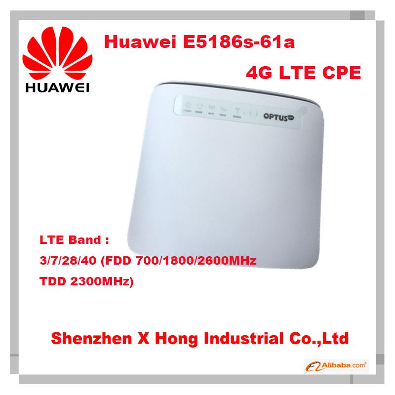 Prix pour Débloqué Huawei E5186 E5186s-61a (antenne) Cat6 300 Mbps LTE wifi routeur 4G FDD 700/1800/2600 MHz TDD 2300 MHz cpe sans fil routeur