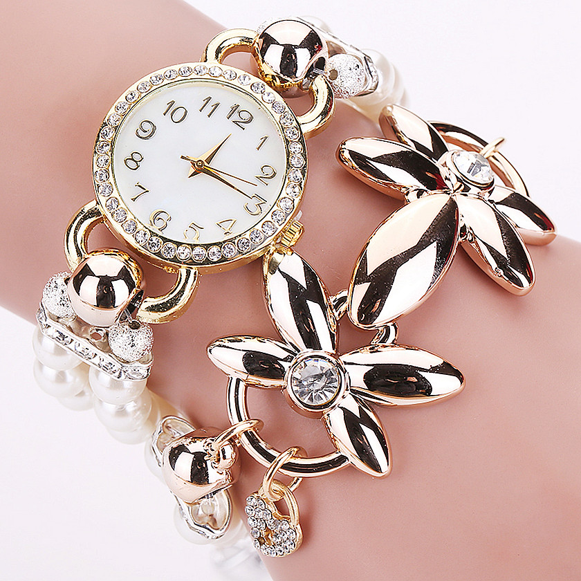 Fashion Luxury Pearl Rhinestone Bracelet Watch Women Quartz Watch Ladies Wristwatch Relogio Feminino Relojes Mujer Montres