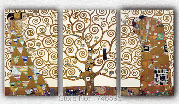 Big Size Modern Living Room Home Decorative Gustav Klimt Tree Of Life Wall  Art Picture Printed