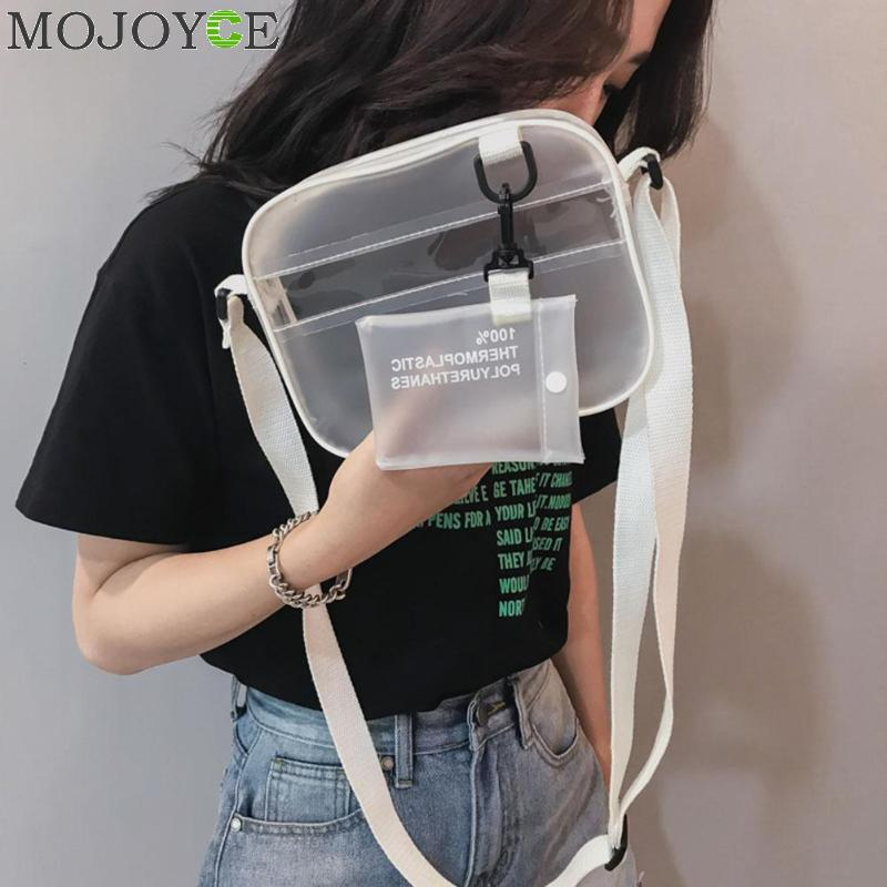 Summer 2 In 1 Bag Women Zipper Bags Designer 2019 Newest PVC Jelly Shoulder Bag Female White Transparent Messenger Handbag GirlsSummer 2 In 1 Bag Women Zipper Bags Designer 2019 Newest PVC Jelly Shoulder Bag Female White Transparent Messenger Handbag Girls