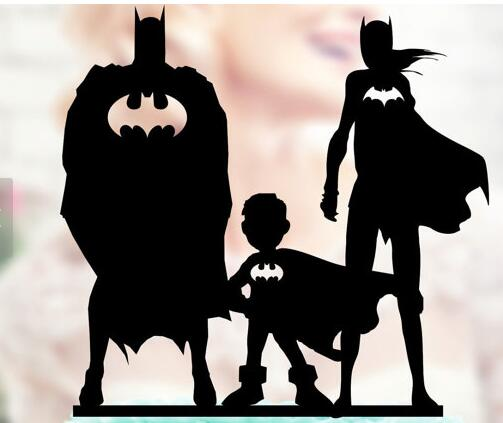 superhero family wedding cake topper personalized batman and batgirl family wedding 20603