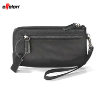 Effelon Wallet Pouch Case For IPhone 6 6S 7 Plus Hand Strap Zipper Card Holder Phone