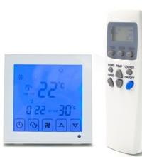 Вентилятор 4 P 7 дней программы цифровой Отопление охлаждения термостат контроллер с инфракрасного управления