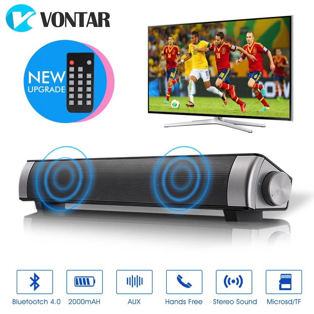 VONTAR звуковая панель беспроводной Sub woof Bluetooth динамик Enhanced ТВ пульт дистанционного управления динамик TF карта семейный закрытый Портативная ...